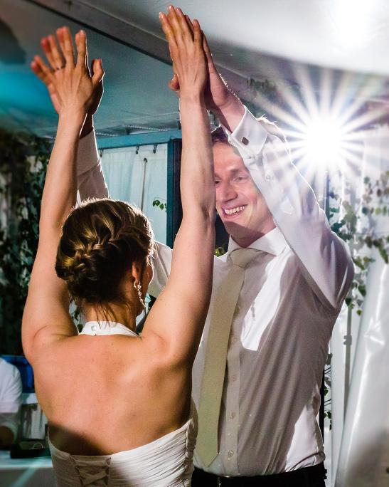 Von mir trainiertes Paar beim Hochzeitstanz